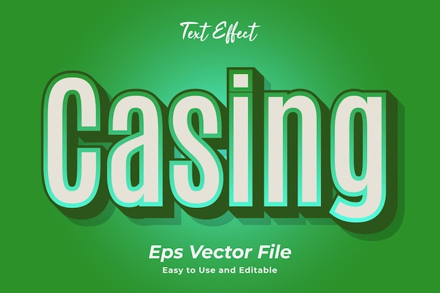 Text effect casing editable and easy to use premium vector