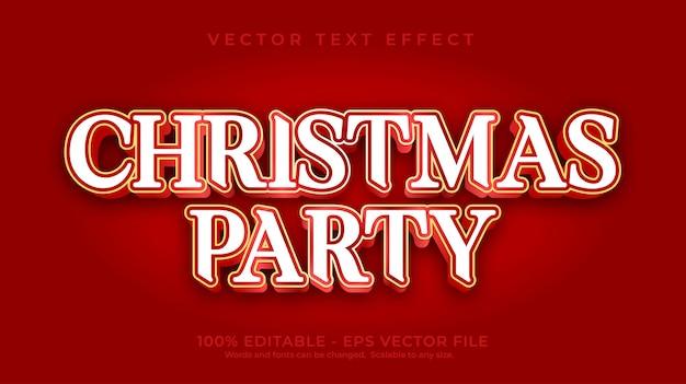 Рождественская вечеринка с текстовым эффектом