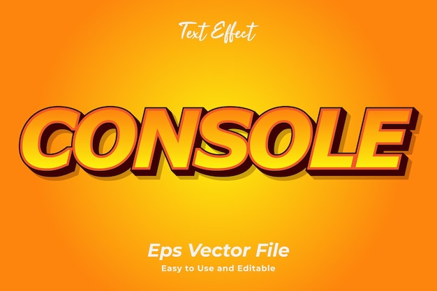 Text effect console editable and easy to use premium vector