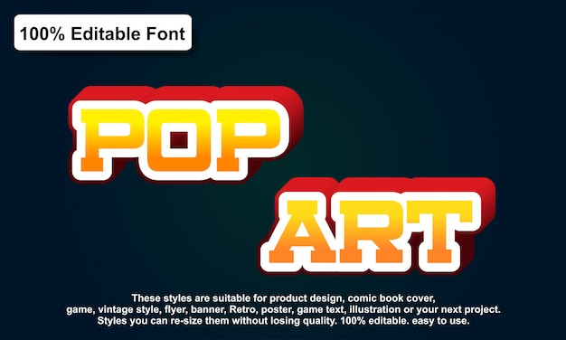 Text effect for cool futuristic effect, editable text