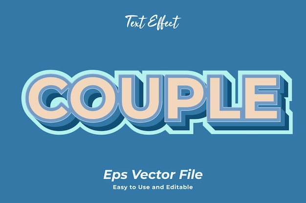 Text effect couple editable and easy to use premium vector