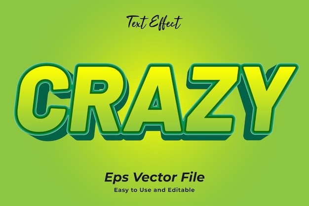 Text effect crazy editable and easy to use premium vector