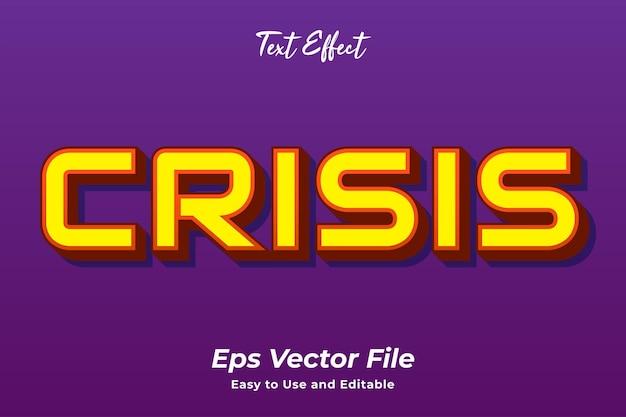 Текстовый эффект кризис редактируемый