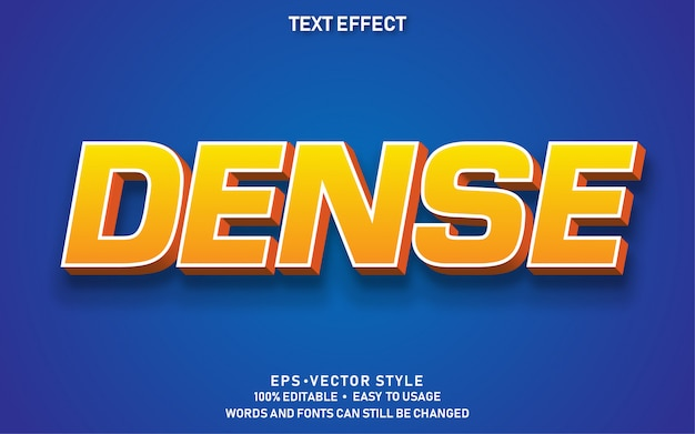 Text effect dense