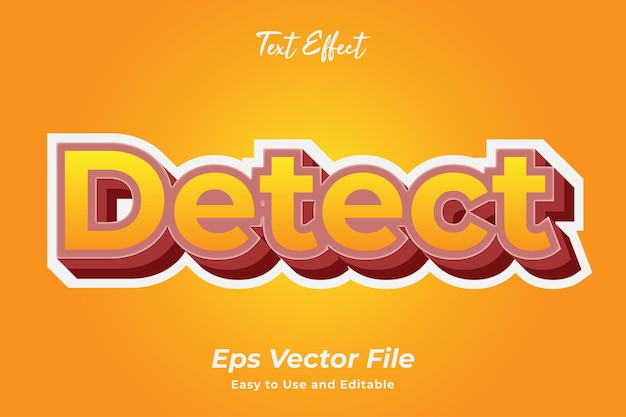 Text effect detect editable and easy to use premium vector