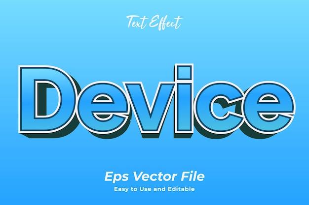 Текстовый эффект устройство простое в использовании и редактируемое премиум векторы