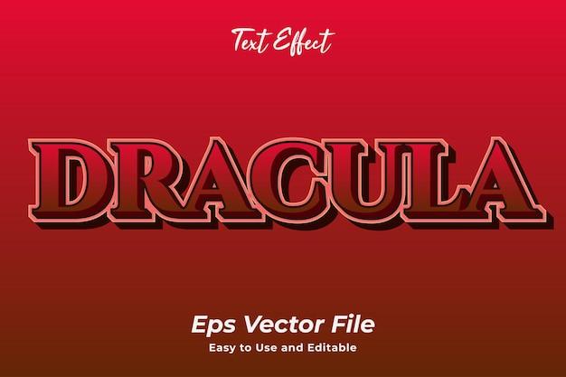 텍스트 효과 드라큘라 편집 가능하고 사용하기 쉬운 프리미엄 벡터