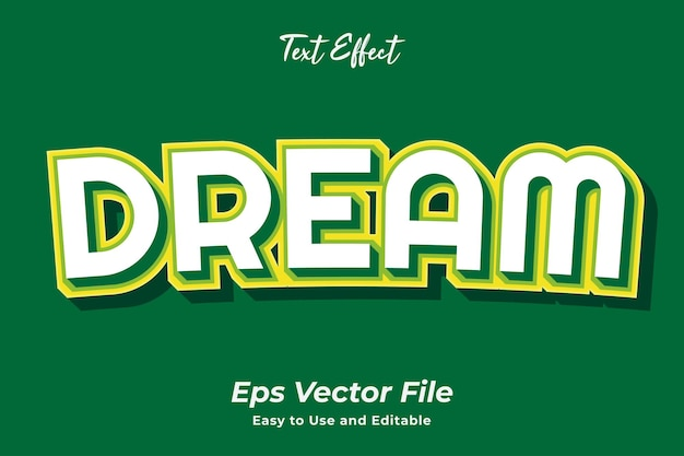 Text effect dream editable and easy to use premium vector