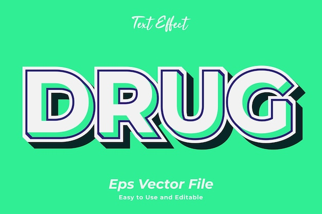 Text effect drug editable and easy to use premium vector