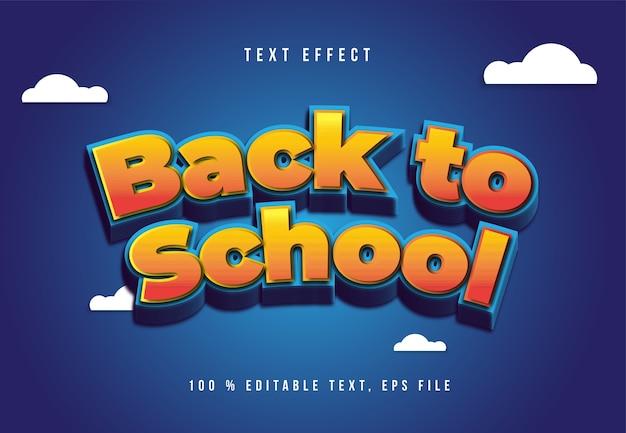 Редактируемый текстовый эффект снова в школу