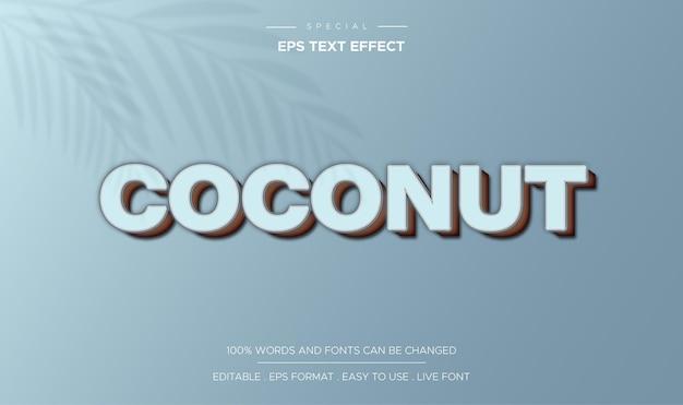 텍스트 효과 편집 가능한 코코넛
