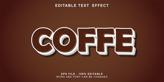 Текстовый эффект-редактируемый-кофе