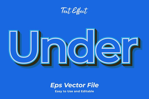 Text effect under editable and easy to use premium vector