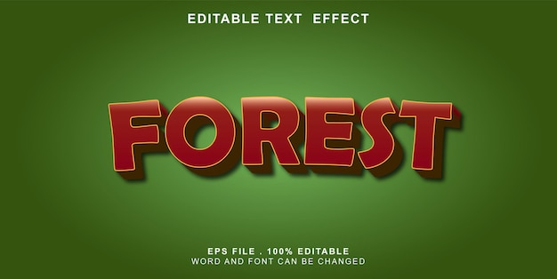Text-effect-editable-forest