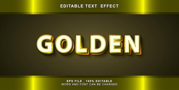 Текстовый эффект редактируемый золотой
