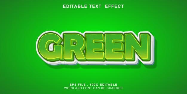Text-effect-editable-green