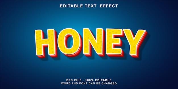 テキスト効果-編集可能-蜂蜜