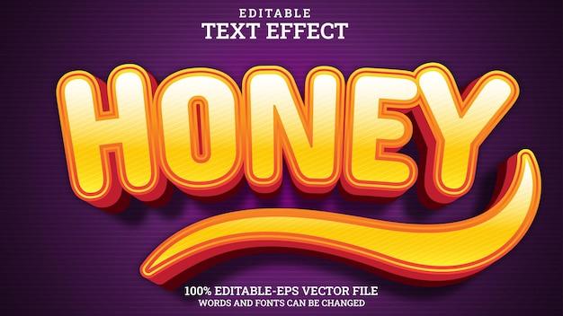 텍스트 효과 편집 가능한 꿀