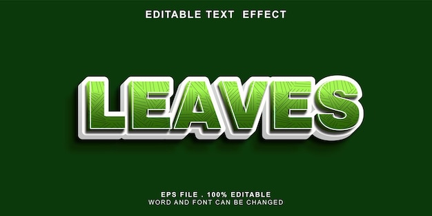 Text-effect-editable-leaves
