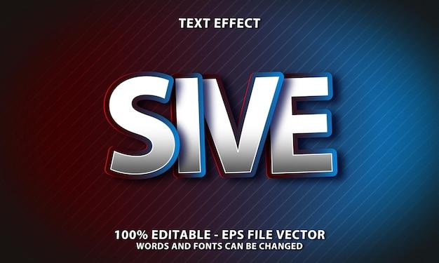 텍스트 효과 편집 가능, 밝은 빨강 및 파랑 스타일