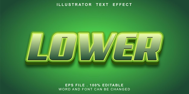 Text effect editable lower