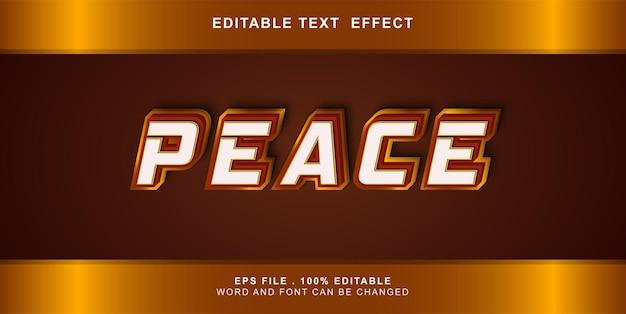 텍스트 효과 편집 가능한 평화