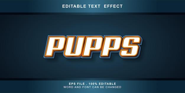 텍스트 효과 편집 가능한 강아지
