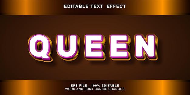 텍스트 효과 편집 가능한 여왕
