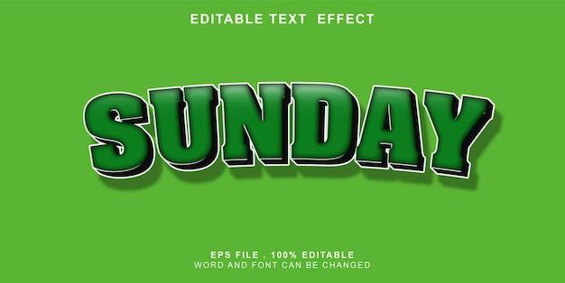 Text-effect-editable-sunday