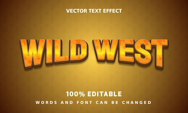 Text effect editable template