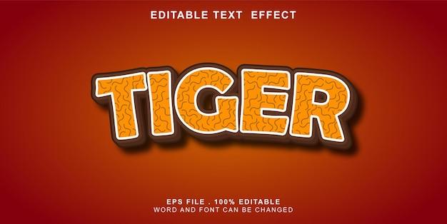 Текст-эффект-редактируемый-тигр