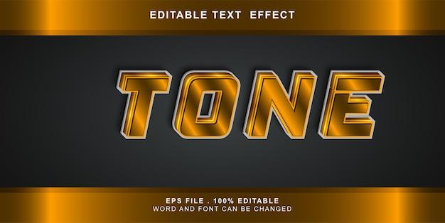 Text effect editable tone