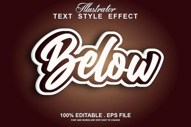 Below text effect editable