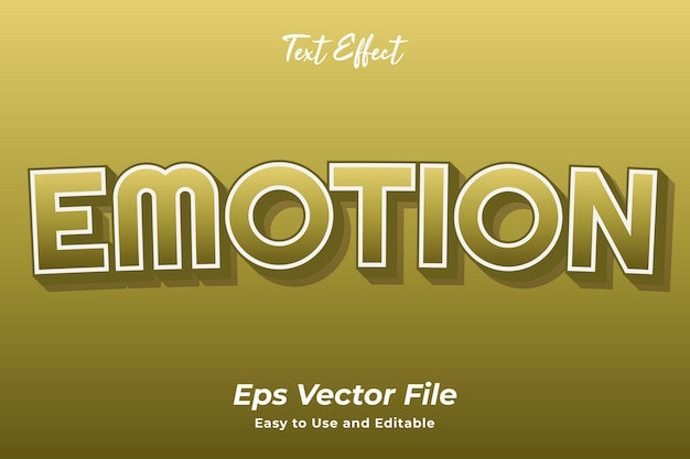 Text effect emotion editable and easy to use premium vector