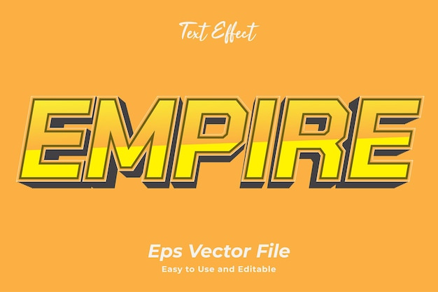 Текстовый эффект империя редактируемый