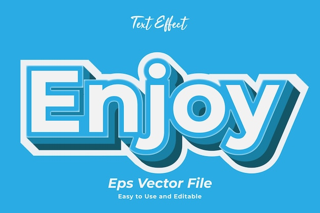 Text effect enjoy editable and easy to use premium vector