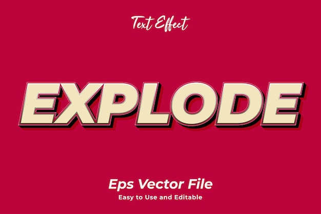 Text effect explode editable and easy to use premium vector