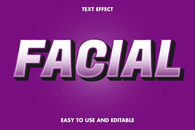 텍스트 효과-얼굴. 편집 가능