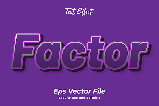 Text effect factor editable and easy to use premium vector