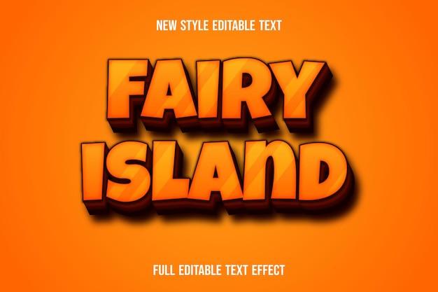 Текстовый эффект сказочного острова на оранжевом и коричневом градиенте
