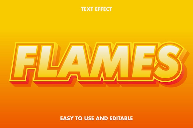 Text effect - flames. editable font style