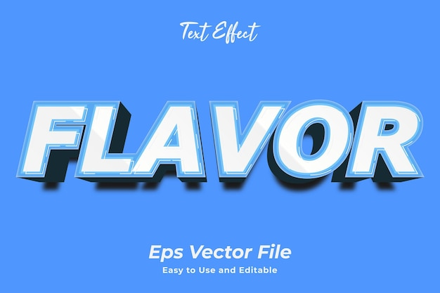 Text effect flavor editable and easy to use premium vector