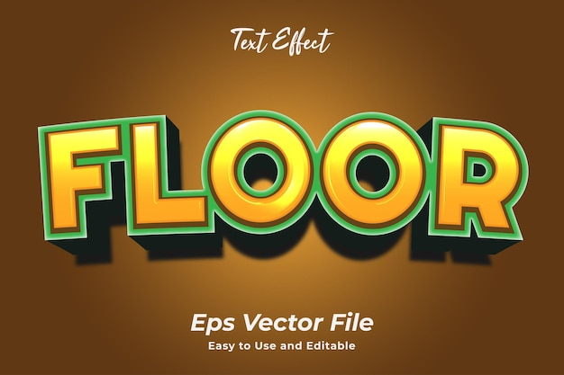 Text effect floor editable and easy to use premium vector