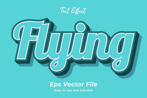 Text effect flying editable and easy to use premium vector