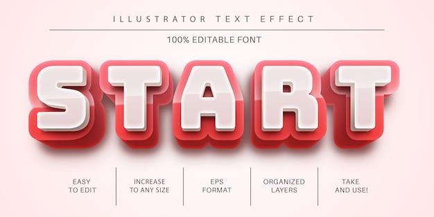 텍스트 효과, 글꼴 스타일