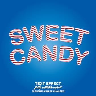 사탕 제품 또는 제목에 대한 텍스트 효과