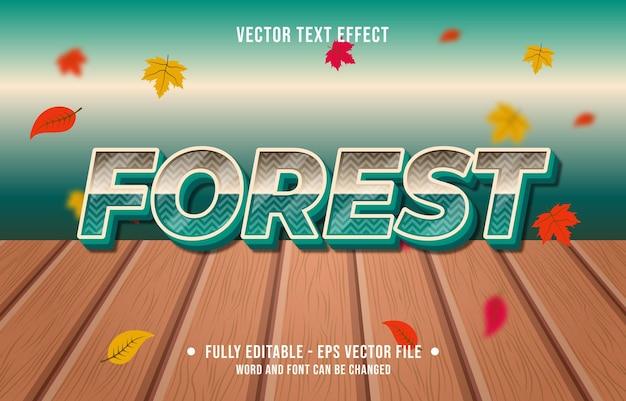 텍스트 효과 숲 그라데이션 스타일 가을 시즌 배경