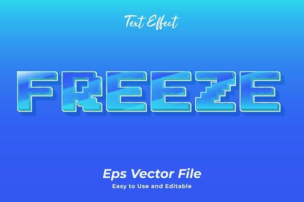 Текстовый эффект freeze editable