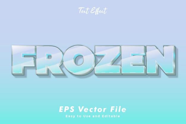 Text effect - frozen. editable font style.