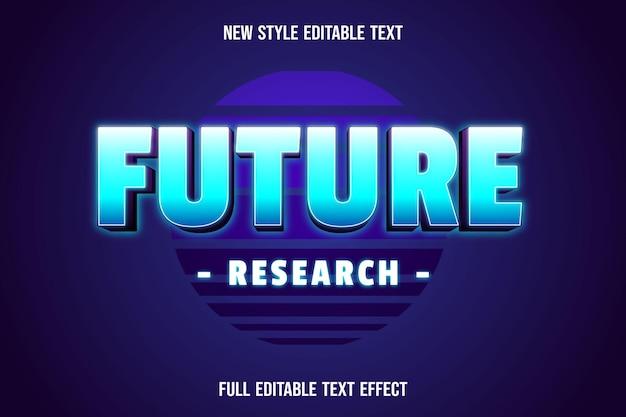 テキスト効果未来研究色青と白